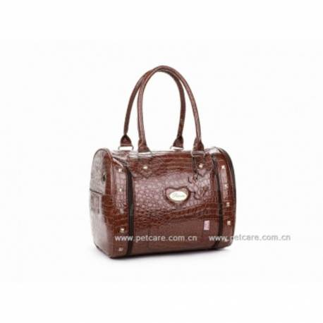 "Sac de Transport ""Croco"" Brun"