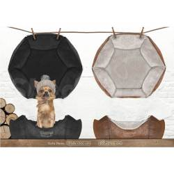 "Sofa hexagonal ""Woodsdogs"" Noir ou Brun"
