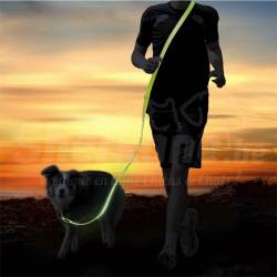 "Laisse Jogging ""USB Flash S à XL"" Fluo"