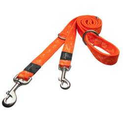 "Laisse Réglable ""Alpinist"" Orange"