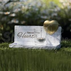 """Pierre Commémorative """"Heart"""""""