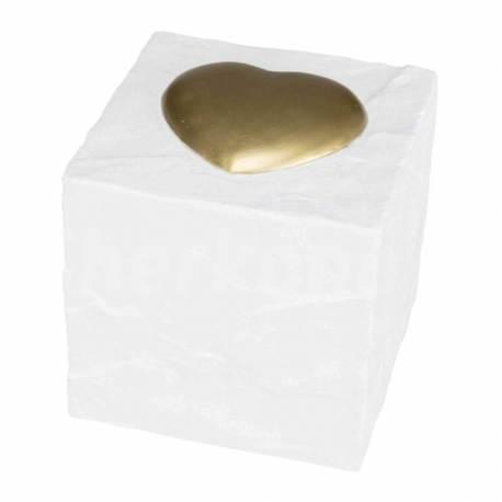 """Pierre Commémorative """"Cube Coeur"""""""