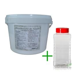 Pack Bicarbonate 2Kg + Saupoudreur 1000